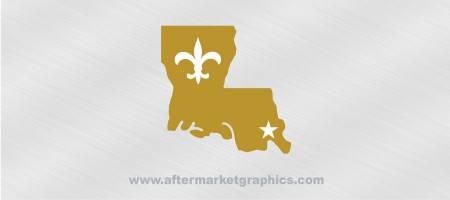 New Orleans Saints Decal 02