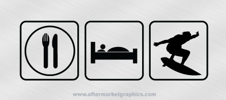 Eat Sleep Surf Decal 02