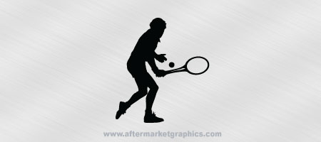 Tennis Player Decal 01