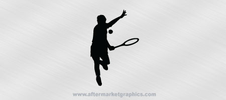 Tennis Player Decal 02