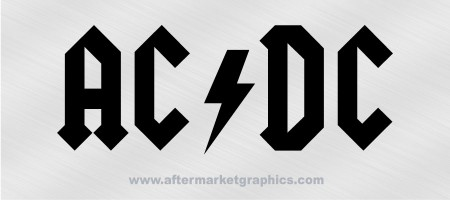 AC DC Decal