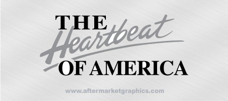 Chevrolet Heartbeat of America Decals - Pair
