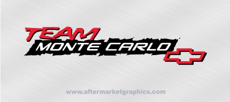 Chevy Team Montecarlo Decals - Pair