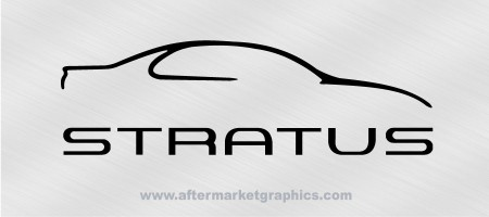 Dodge Stratus Outline Decals - Pair