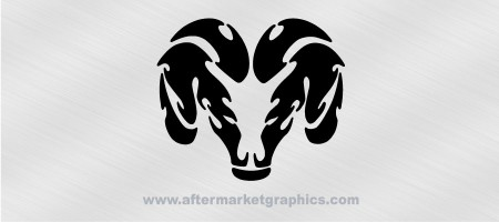 Dodge Tribal Ram Decals - Pair