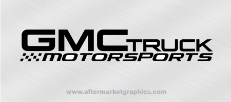 GMC Truck Motorsports Decals - Pair
