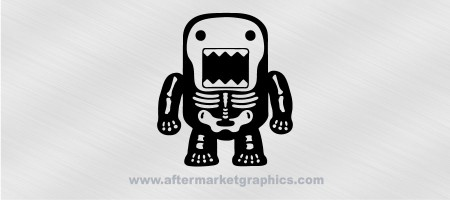 Domo Kun Skeleton Decal