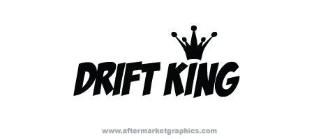 Drift King Decals - Pair