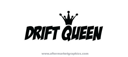 Drift Queen Decals - Pair