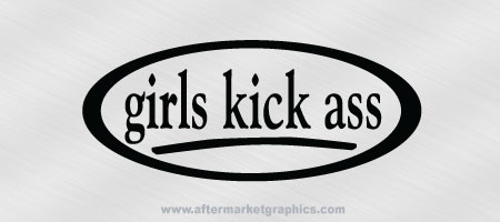 Girls Kick Ass Decals - Pair