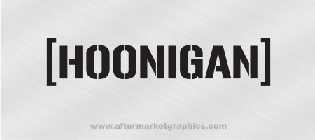 Hoonigan Racing Decal