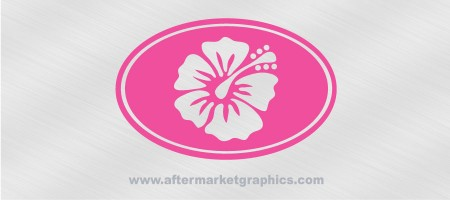 Hibiscus Euro Style Decal