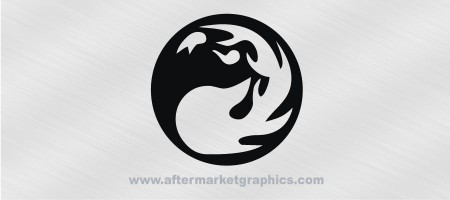 Magic the Gathering Red Mana Decal