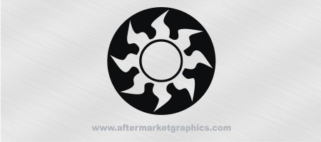 Magic the Gathering White Mana Decal