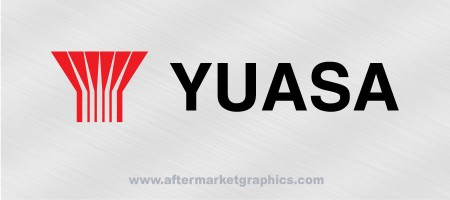 Yuasa Batteries Decals - Pair