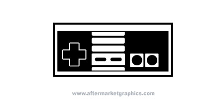 NES Gamepad Decal