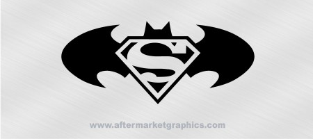 Batman Superman Decal