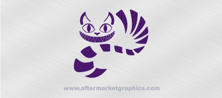 Alice in Wonderland Cheshire Cat Decal