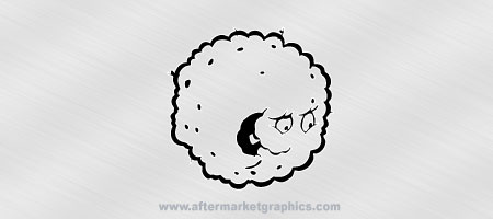 Aqua Teen Hunger Force Meatwad Decal