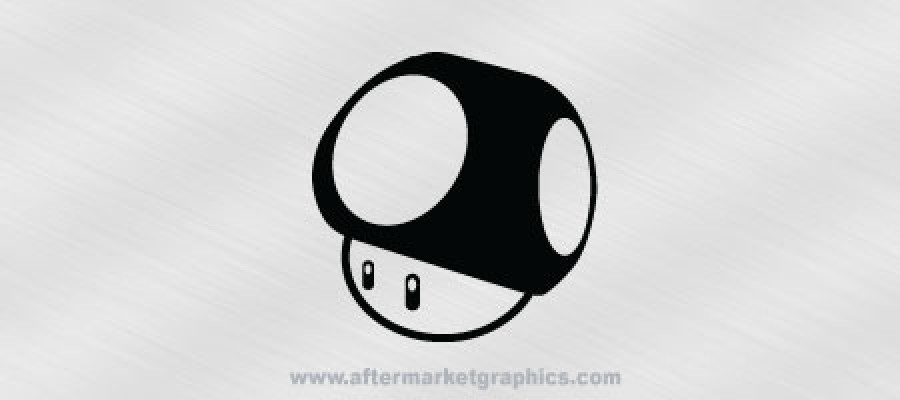 Nintendo Super Mario World Mushroom Decal