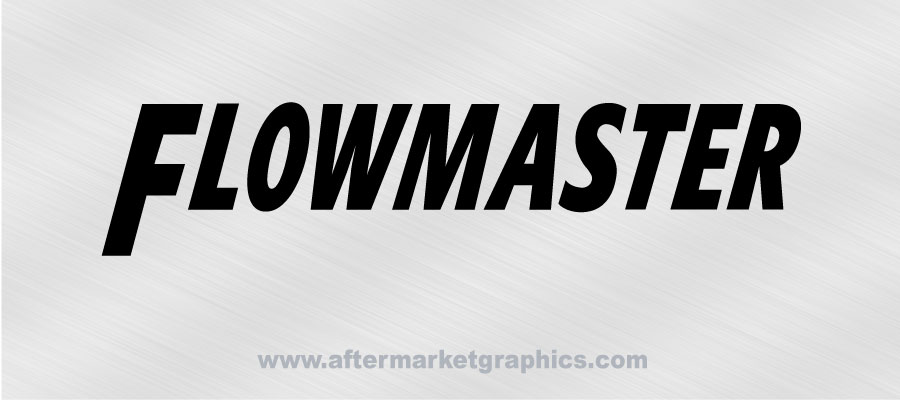 Flowmaster Exhaust Decals - Pair