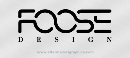 Foose Design Decals - Pair