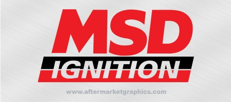 MSD Ignition Decals - Pair