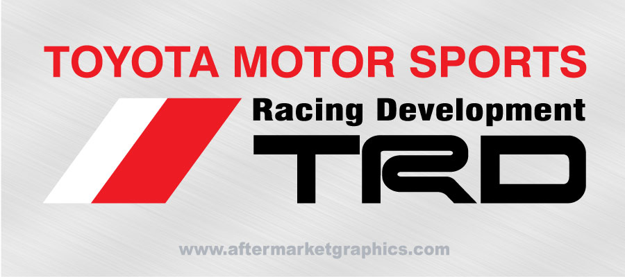 TRD Toyota Racing Development Decals 03 - Pair