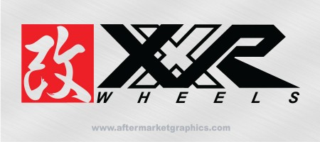 XXR Wheels Decals - Pair