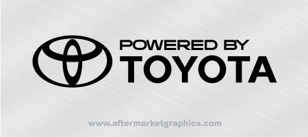 Powered by Toyota Decal