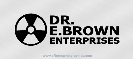 Dr E. Brown Enterprises Back to the Future Decal