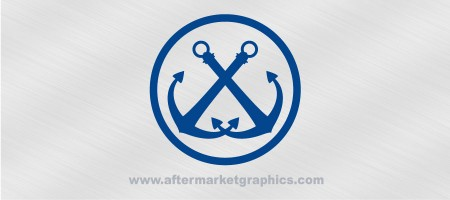 Anchors Pair Decal