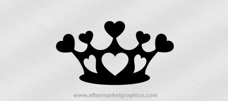 Crown of Hearts Decal