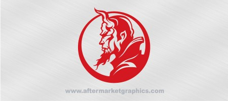 Devil in Circle Decal