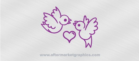 Birds with Heart Decal