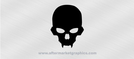 Alien Skull with Fangs Decal
