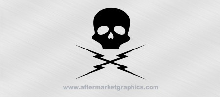 Deathproof Lightning Skull Decal