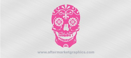Skull made of Flowers Decal
