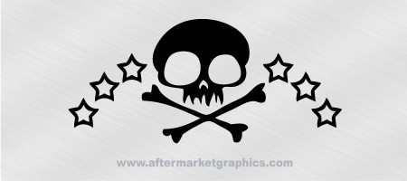 Skull and Stars Decal