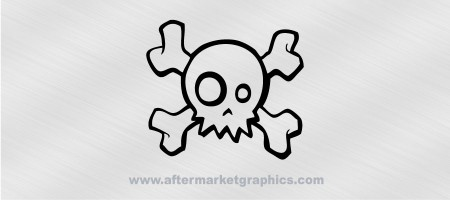 Skull and Crossbones Decal