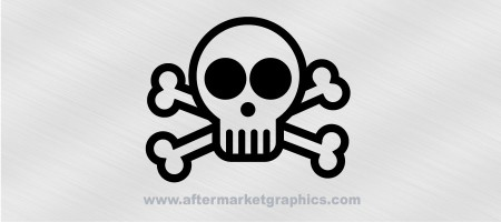 Skull and Crossbones Comic Decal