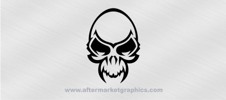 Skull with Fangs Decal