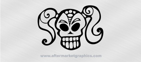Skull Ponytail Decal