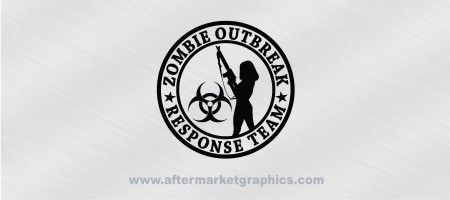 Zombie Outbreak Response Team Female 01 Decal