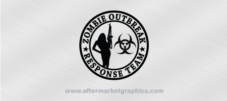 Zombie Outbreak Response Team Female 02 Decal