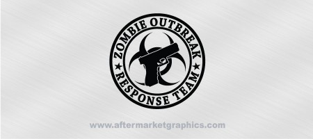 Zombie Outbreak Response Team Glock Biohazard Decal