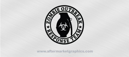 Zombie Outbreak Response Team Grenade Biohazard Decal 01