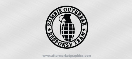 Zombie Outbreak Response Team Grenade Biohazard Decal 02