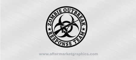 Zombie Outbreak Response Team M16 Biohazard Decal