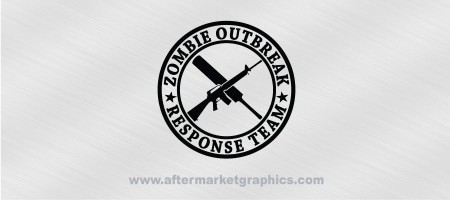 Zombie Outbreak Response Team M16 Cricket Bat Decal